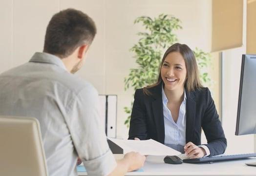 person being interviewed