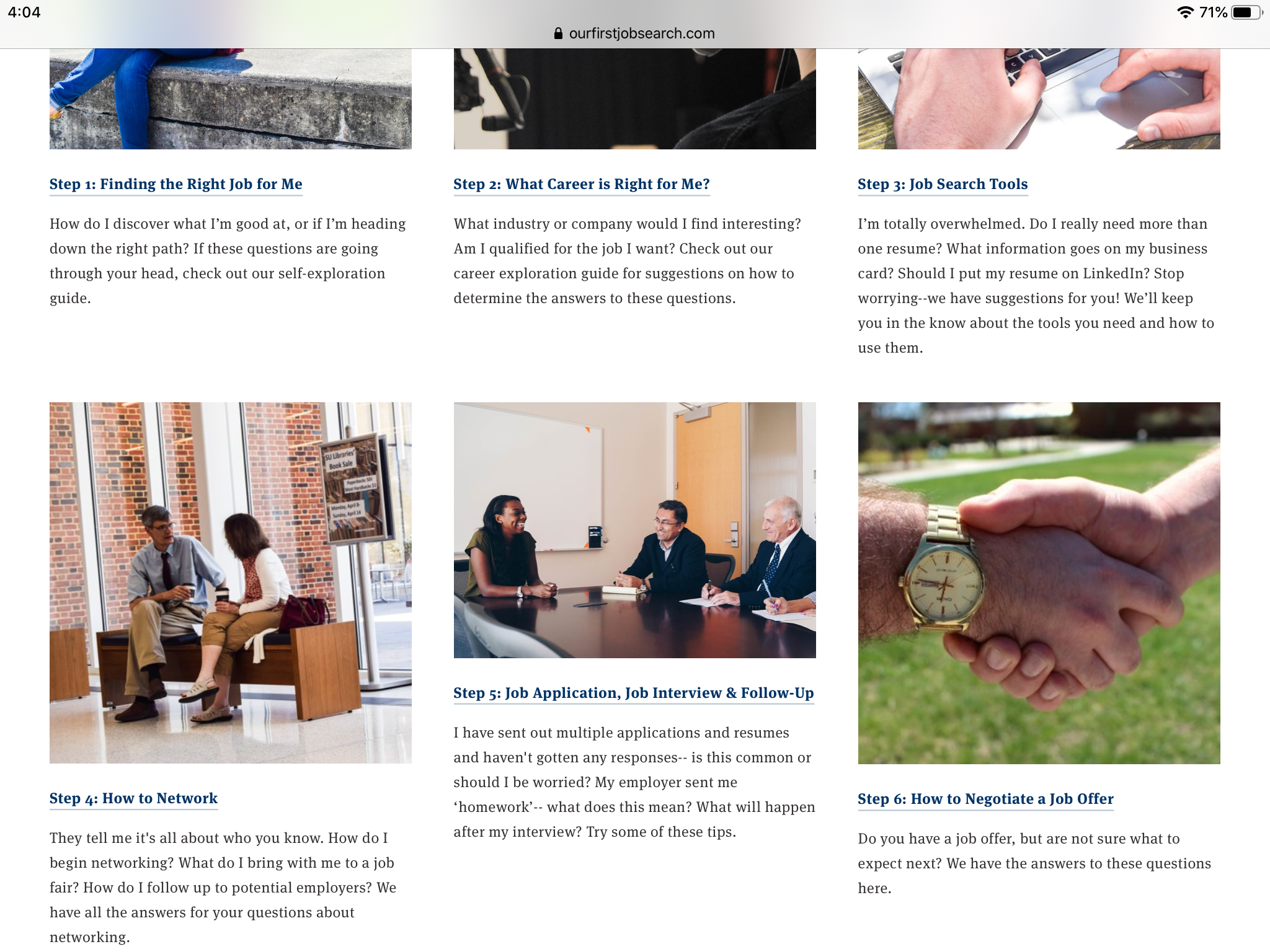 job search steps (blog)
